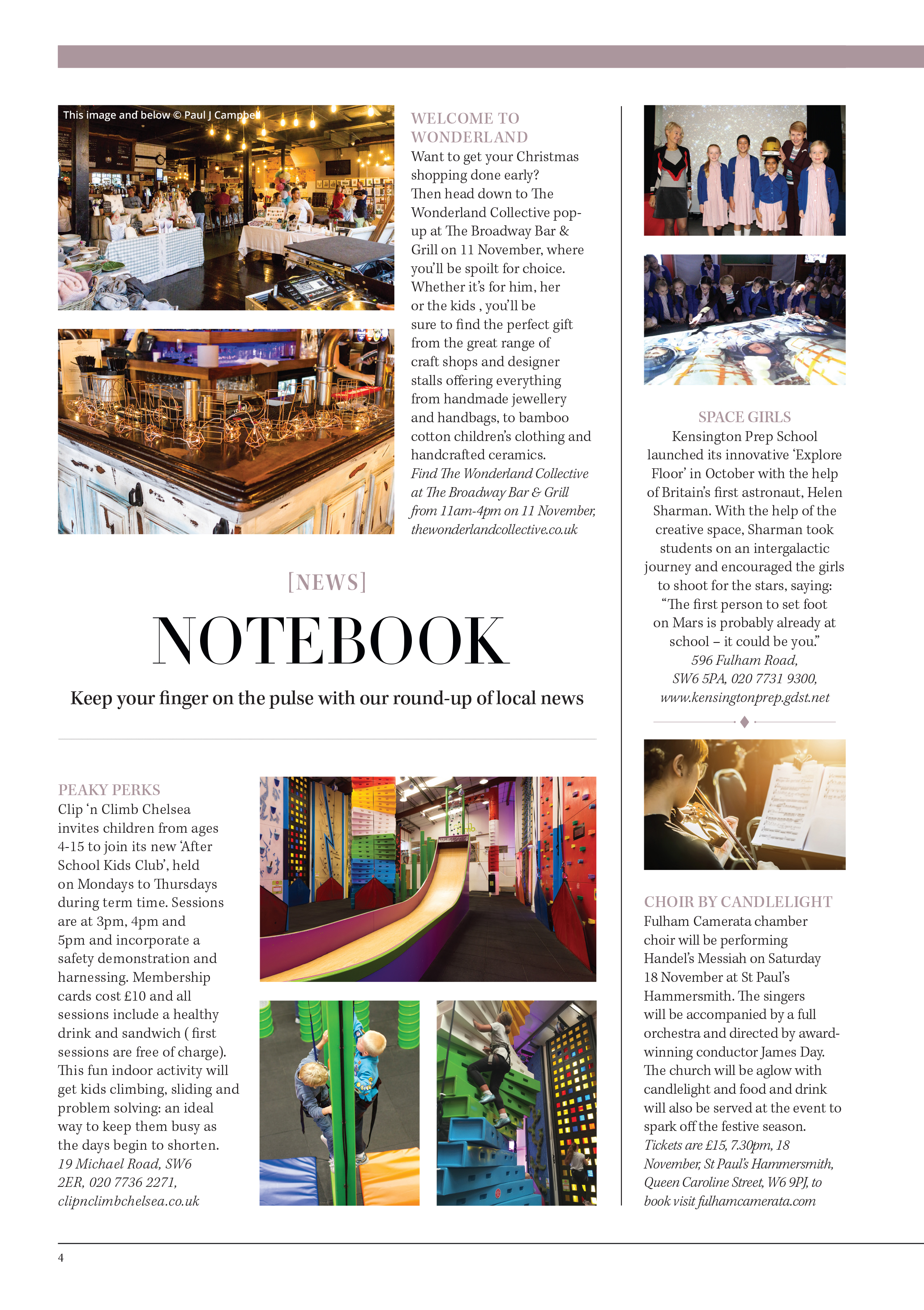 Wonderland Collective feature, Fulham Residents Journal