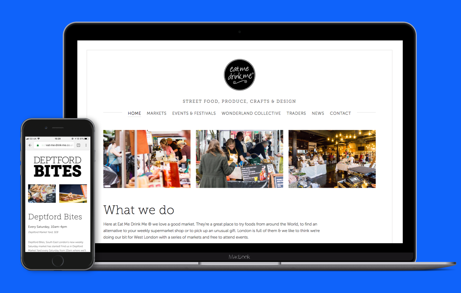 EatMeDrinkMe Website design and build
