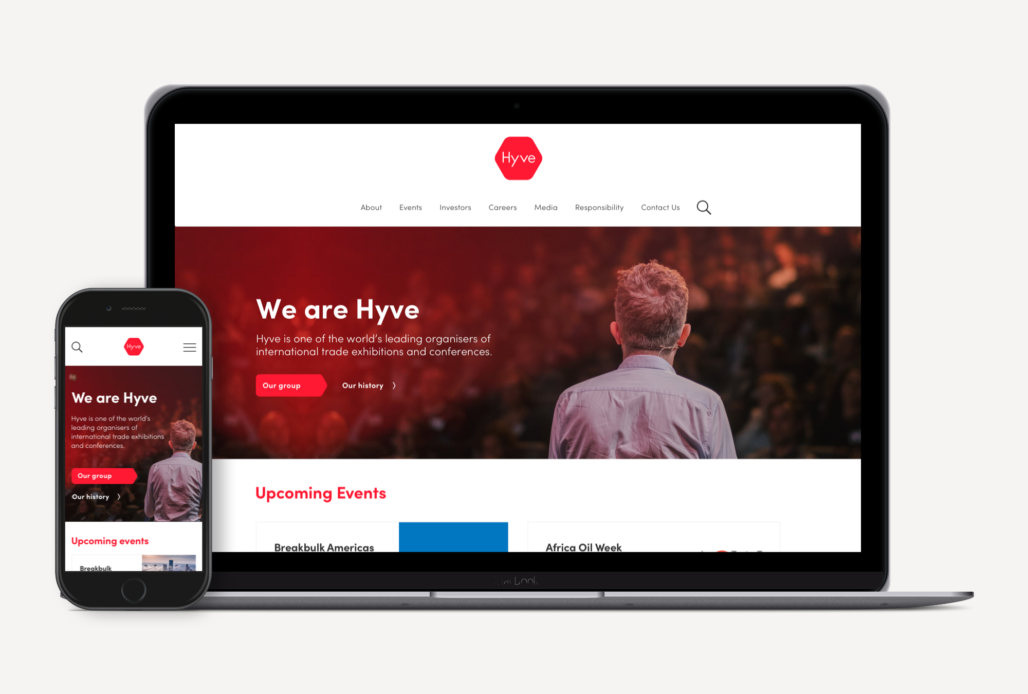 Hyve Group - Design and front-end build