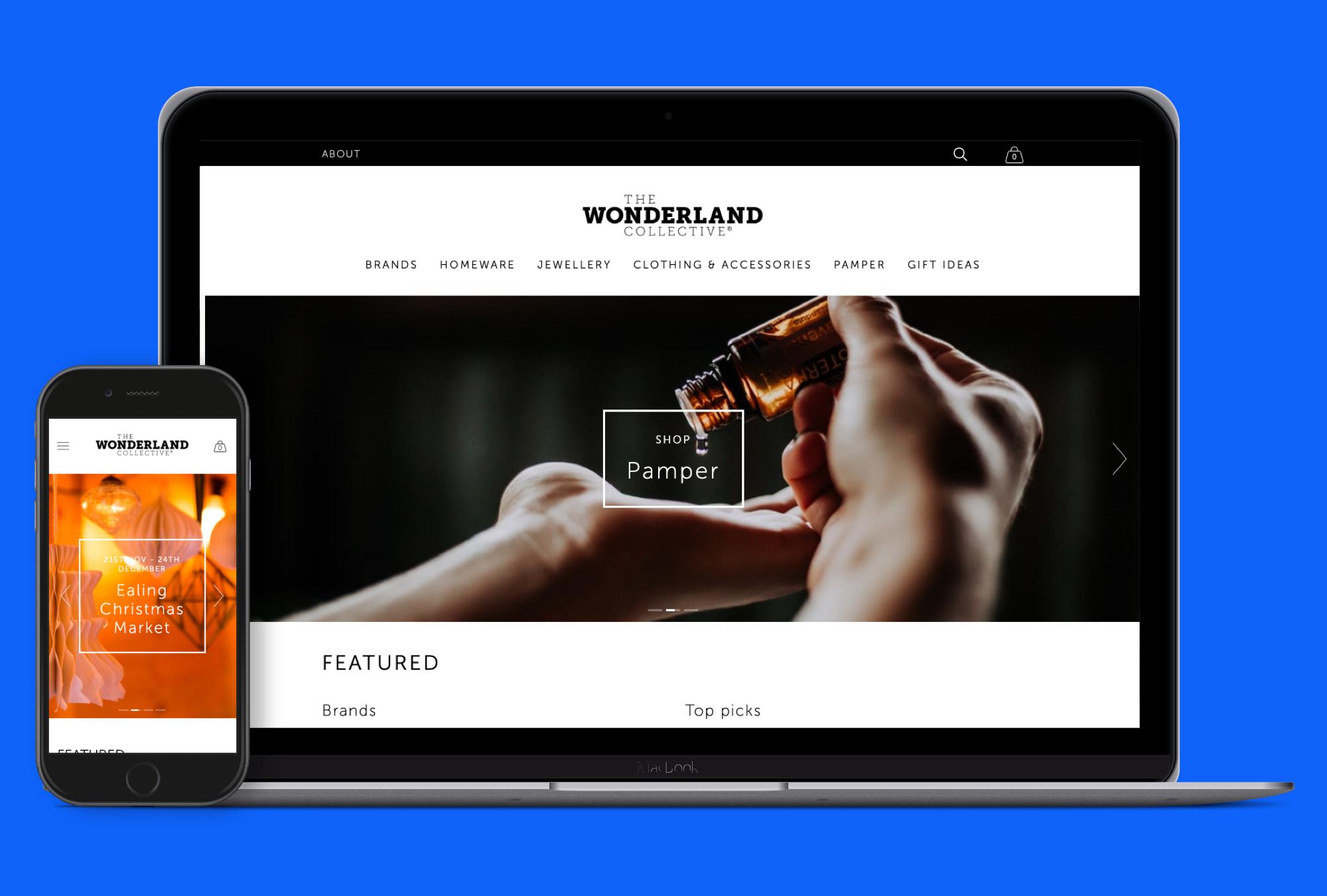 The Wonderland Collective - Website design and build