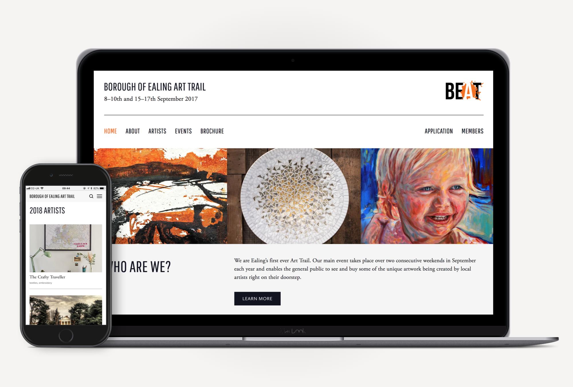 Ealing BEAT - Website design and build