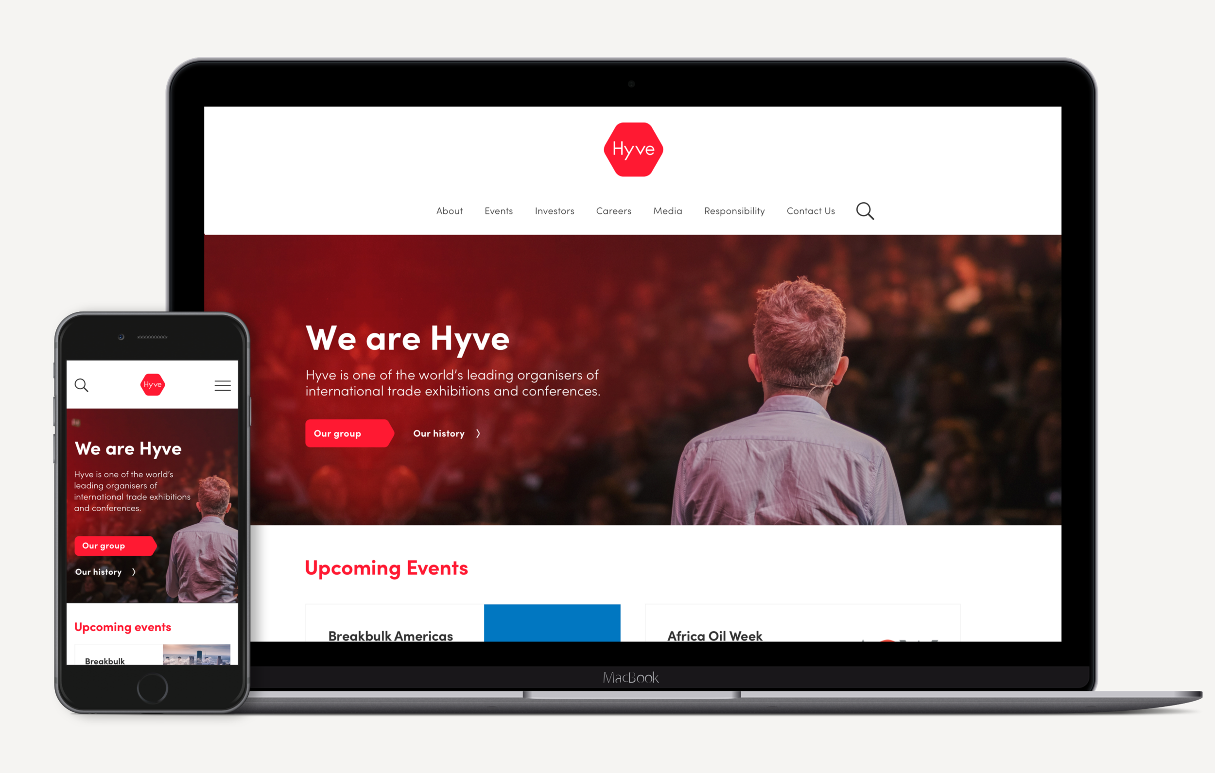 Hyve Group Design and front-end build