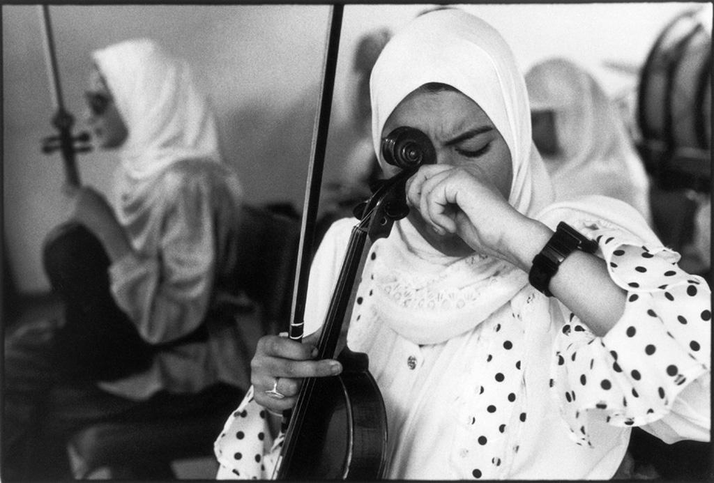 Blind girls orchestra, Cairo, Egypt