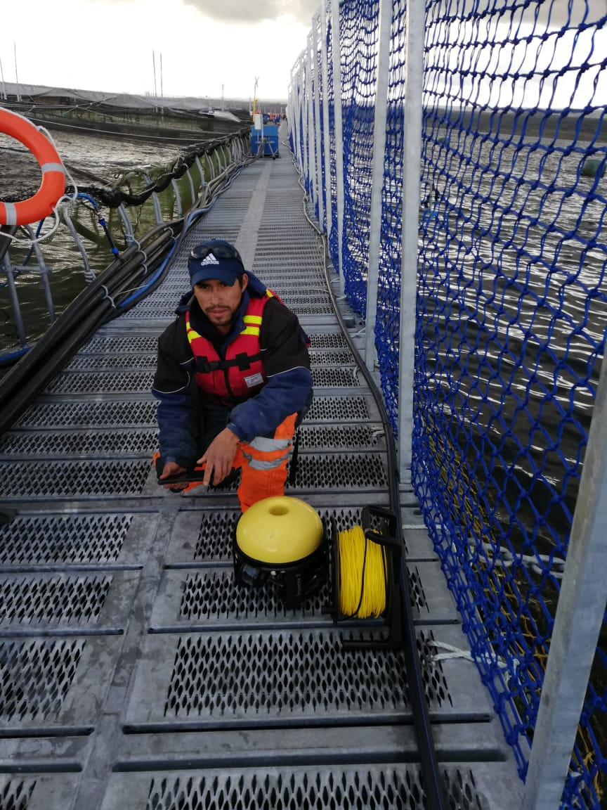 - Jose Contreras with his SeaDrone ROV on the module.