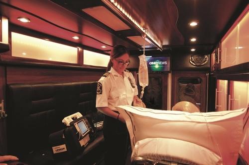 NYC Luxury Ambulance Interior