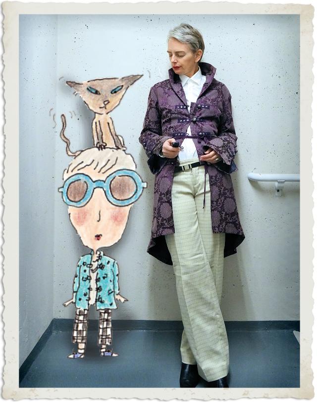Mel with her alter ego Miz Bagg.