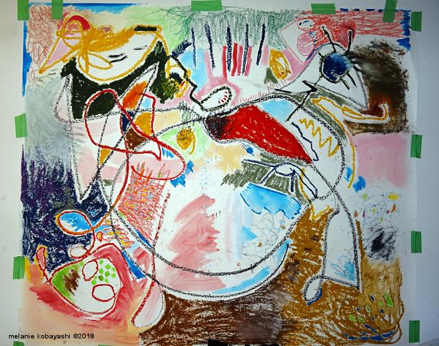 Mixed Media Abstract by Melanie Kobayashi