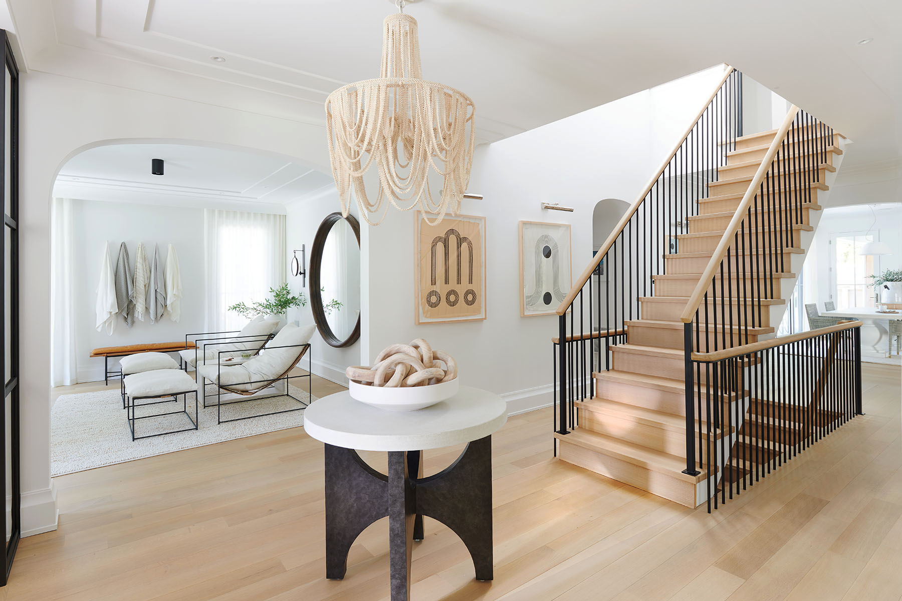 Here's the normal, balanced rendering of this striking foyer also by Ellie Mroz Design. The brighter rooms left and right really don't need to be any brighter. Unless …