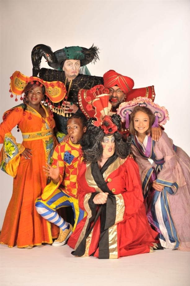 The cast of Aladdin, De Montford Hall, Leicester, 2013