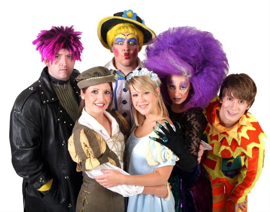 The cast of Sleeping Beauty, Porthcawl, 2012