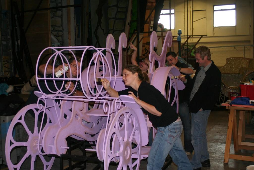 Repainting one of our Cinderella coaches...