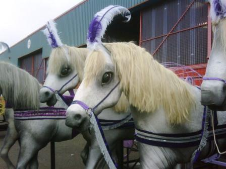 These are our articulated horses and carriages