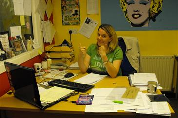 ...and Sarah's doing the accounts.