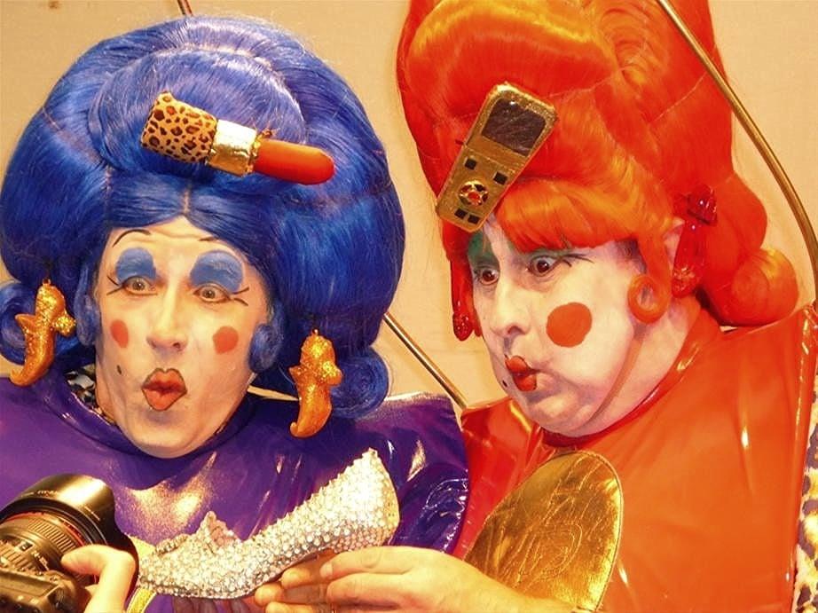 Martin Ballard and Pablo Raybould play the ugly sisters.