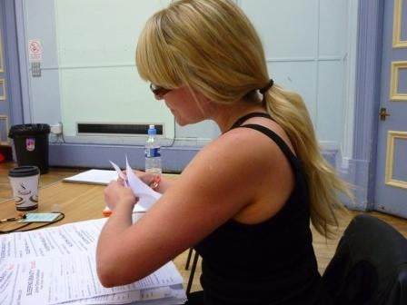 Louise manages the paperwork