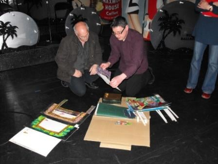 Steve and Bob (venue) with the set model