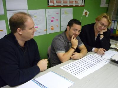 L-R - SImon Butcher - Lighting Designer, Ian Plimbley - Production Manager and Rob Marsden - Show Director.