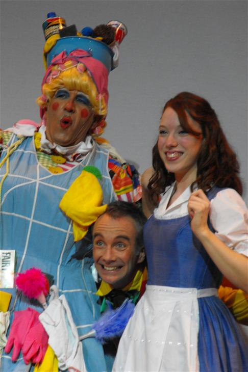 Martin (Dame Dorothy Doo-it), Neil (Director and Willy Doo-it) and Katie (Beauty)