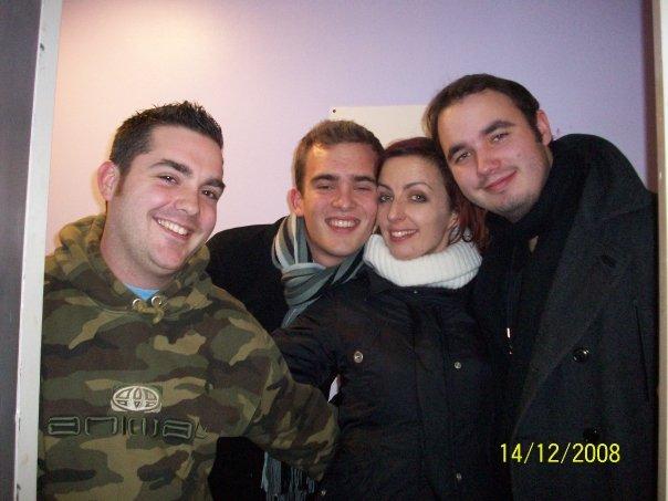 Prod Mgr Ian, Dan (Keys), Lucy (Choreographer) & Matt (MD)