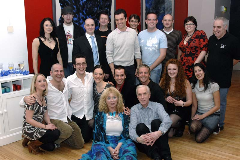 This was the cast and crew. Extra people on this photo include - Nadia Javed (Company Manager & DSM - in grey jumper & demin skirt), Victoria Burton (Wardrobe - in black dress next to Nadia), Fiona McGregor (ASM/ Chaperone - in swirly dress), Mark Edwards (Musical Director - in suit with blue tie), Mikey Shaw (Tech ASM - in baseball cap) and the Palace Theatre stage crew (thanks guys! x)