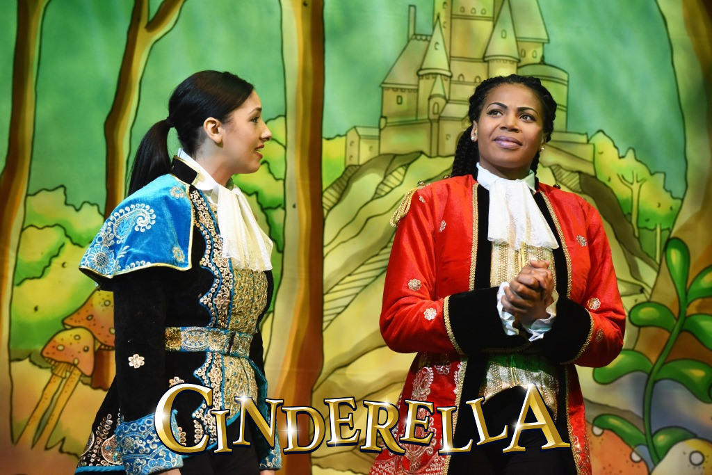 Bethany Brookes as Prince Charming and Letitia Hector as Dandini - Credit Robert Day.jpg