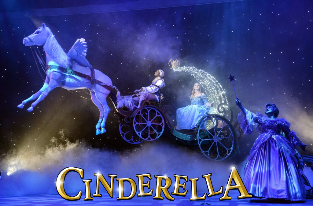 Leshane Williams, Alice Rose Fletcher and Maggie Robson in Cinderella  - Credit Robert Day.jpg