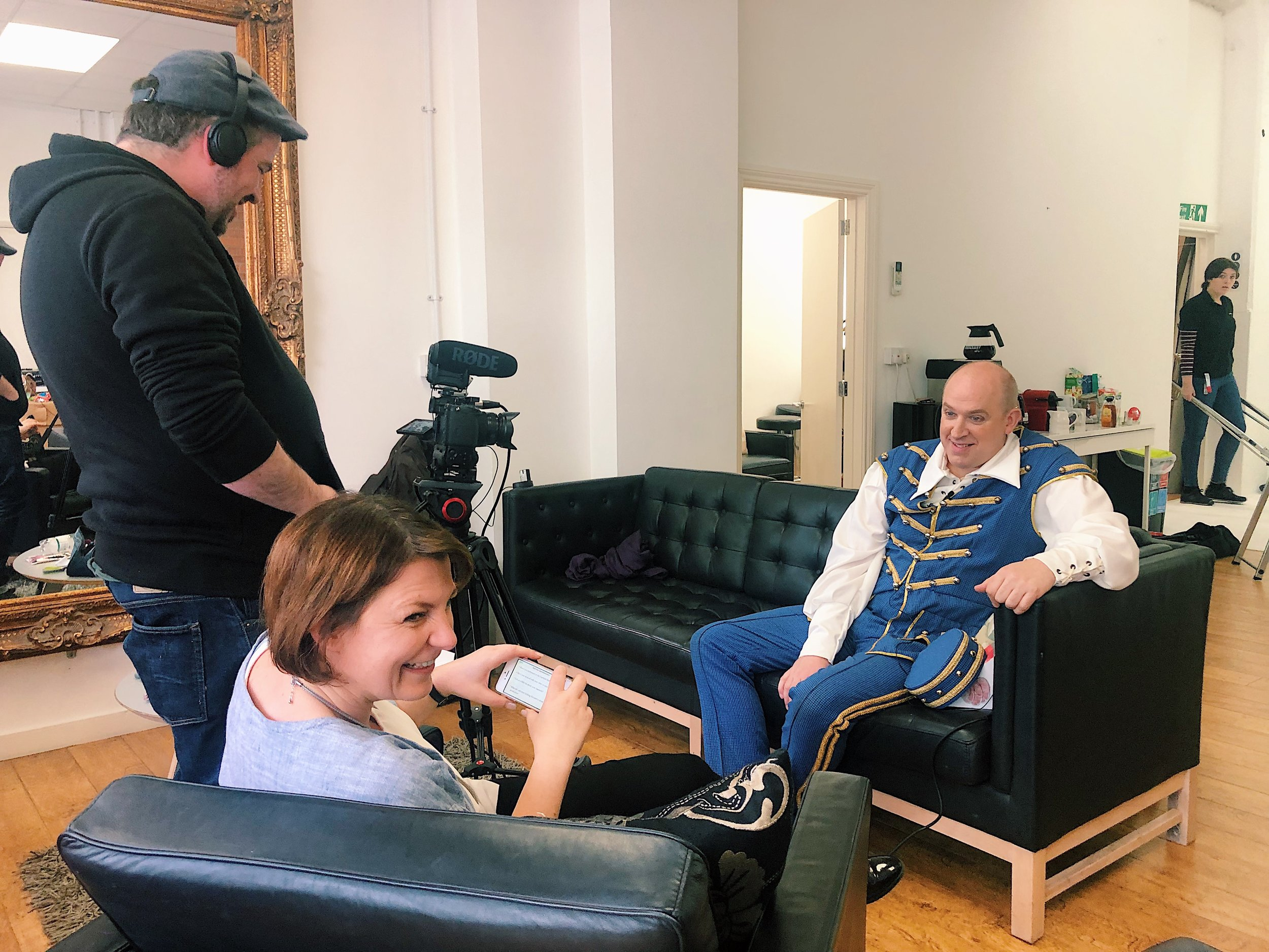 Tim Vine has Videographer Ben and Laura from Imagine in utter hysterics as he's recording his videos. We had to retake it several times as all you could hear was the whole room laughing out loud behind him!