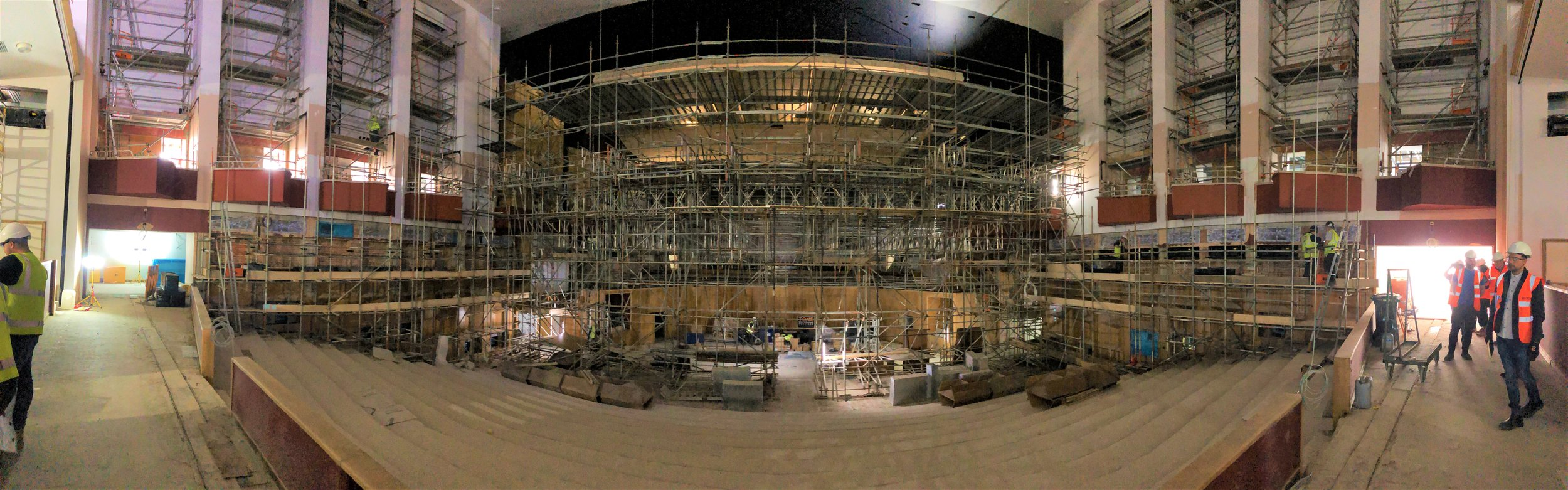 The Phoenix Concert Hall is quite a space! And it's slowly being revealed in all its glory from behind the scaffolding.