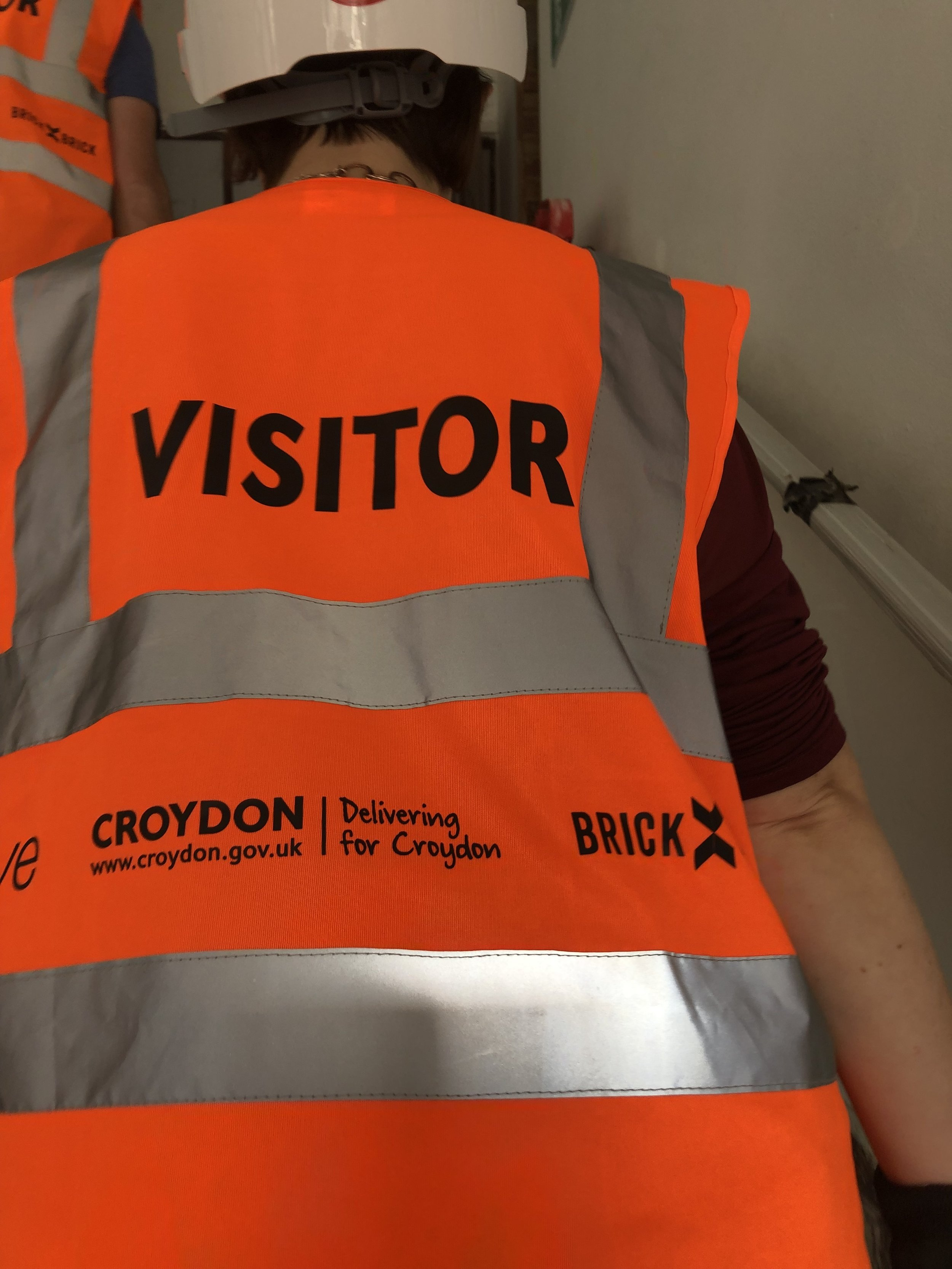 High vis, hard hats and PPE abound, we headed off to explore the building!