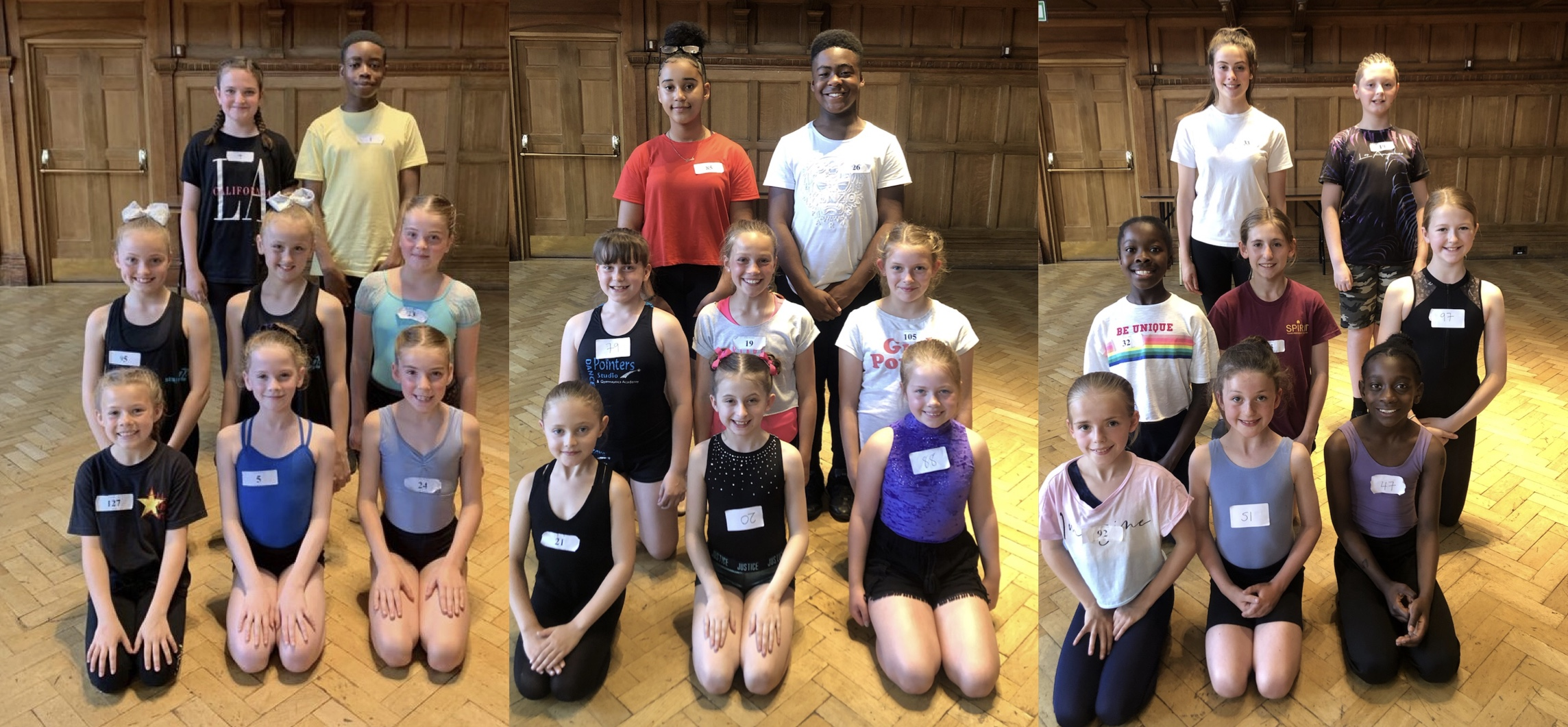 Introducing our three teams of children who will appear in Cinderella