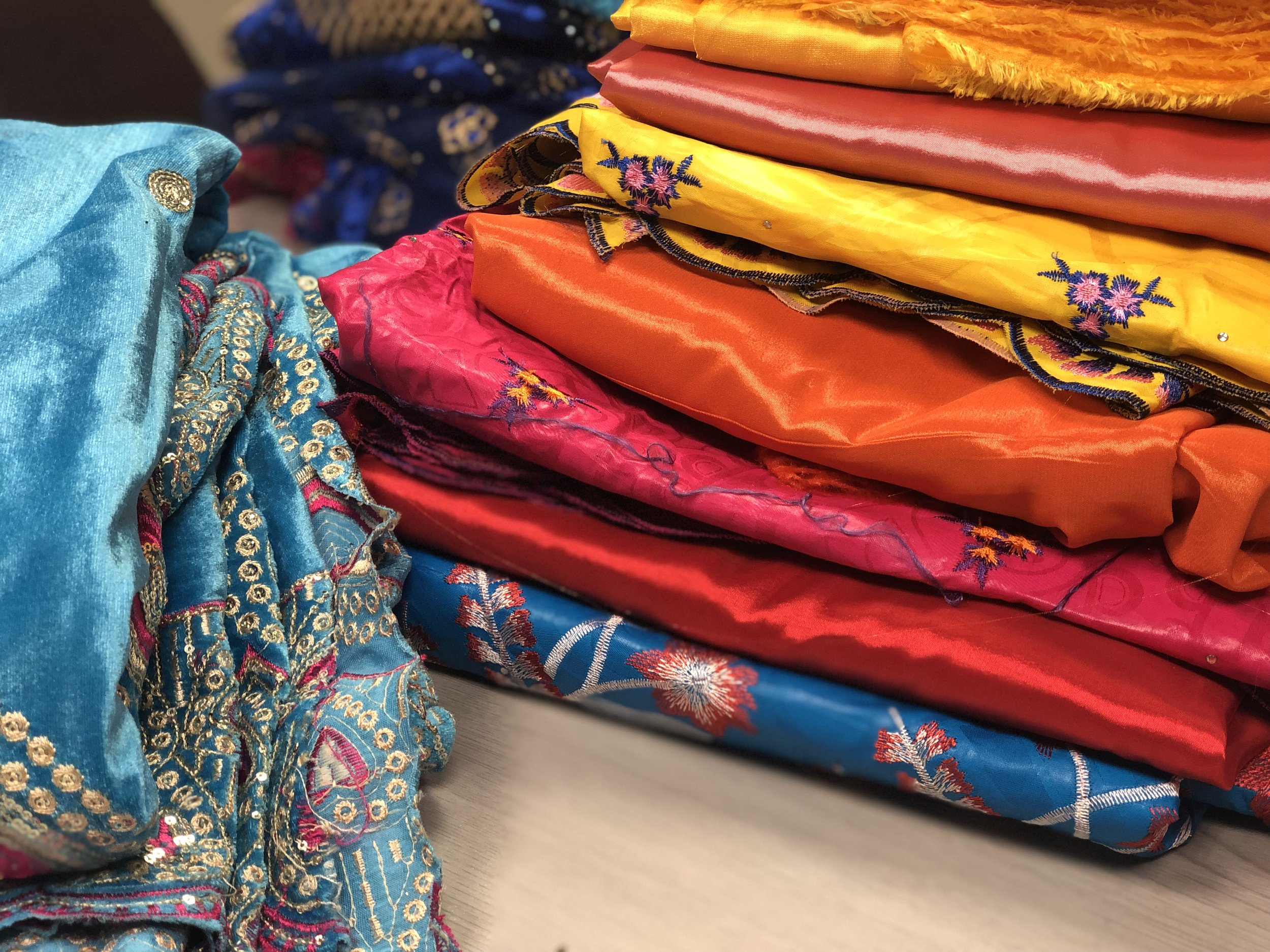 The fabrics are so colourful and vibrant. We can't wait to see them made up into the costumes.