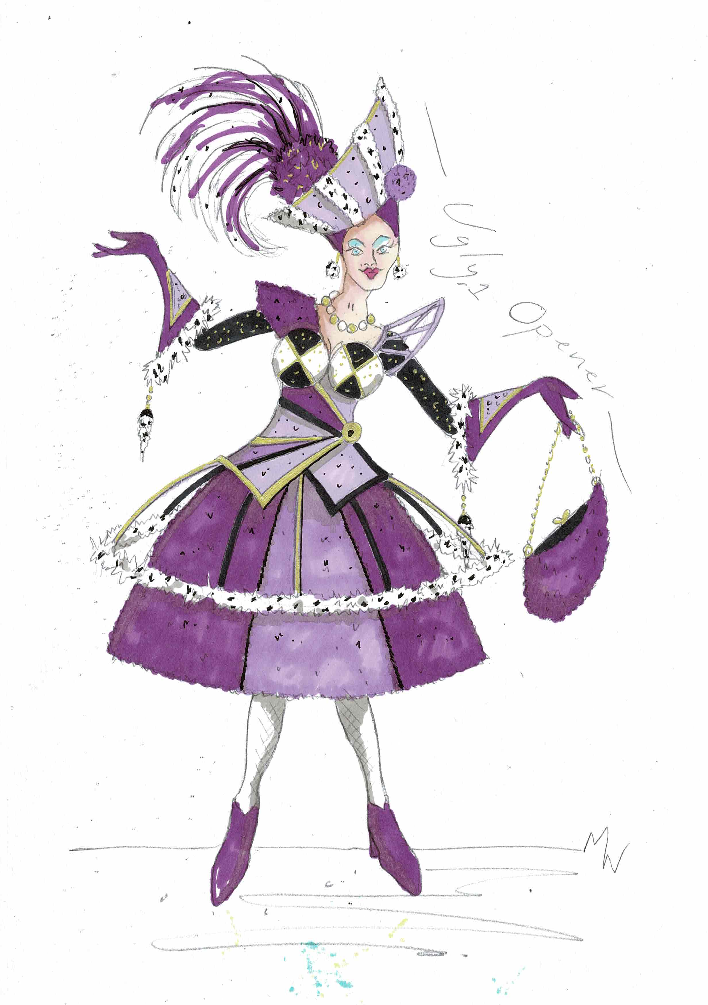 Just a taster of what our Ugly Sisters will be wearing! Design Mark Walters. Copyright Imagine Theatre