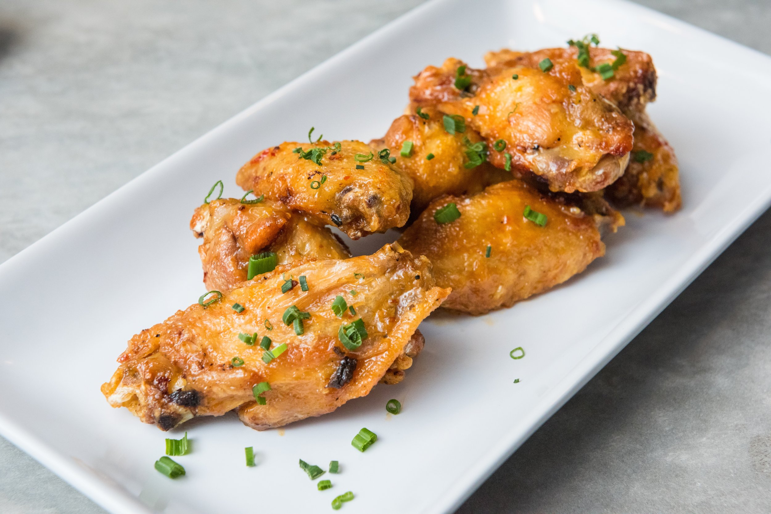 Oven Roasted Chicken Wings appetizer at Thirsty Mermaid