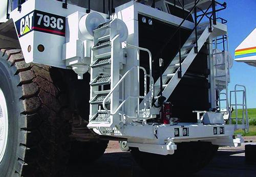 Power Step Ladder on CAT 793C