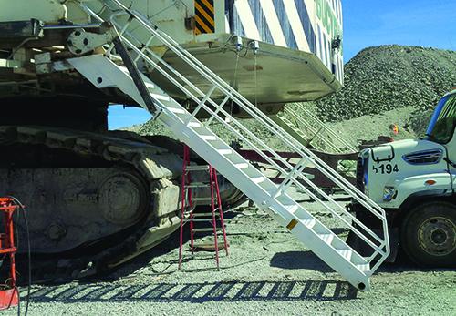 Boarding Ladder on CAT 7495 Shovel
