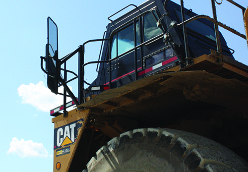 Driver Side Mirror on CAT 793