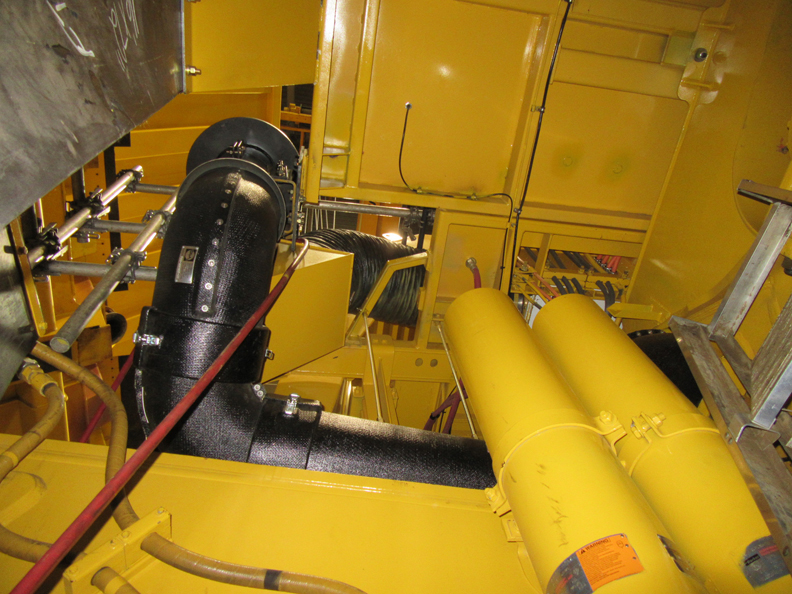 Insulated Exhaust on Komatsu Haul Truck