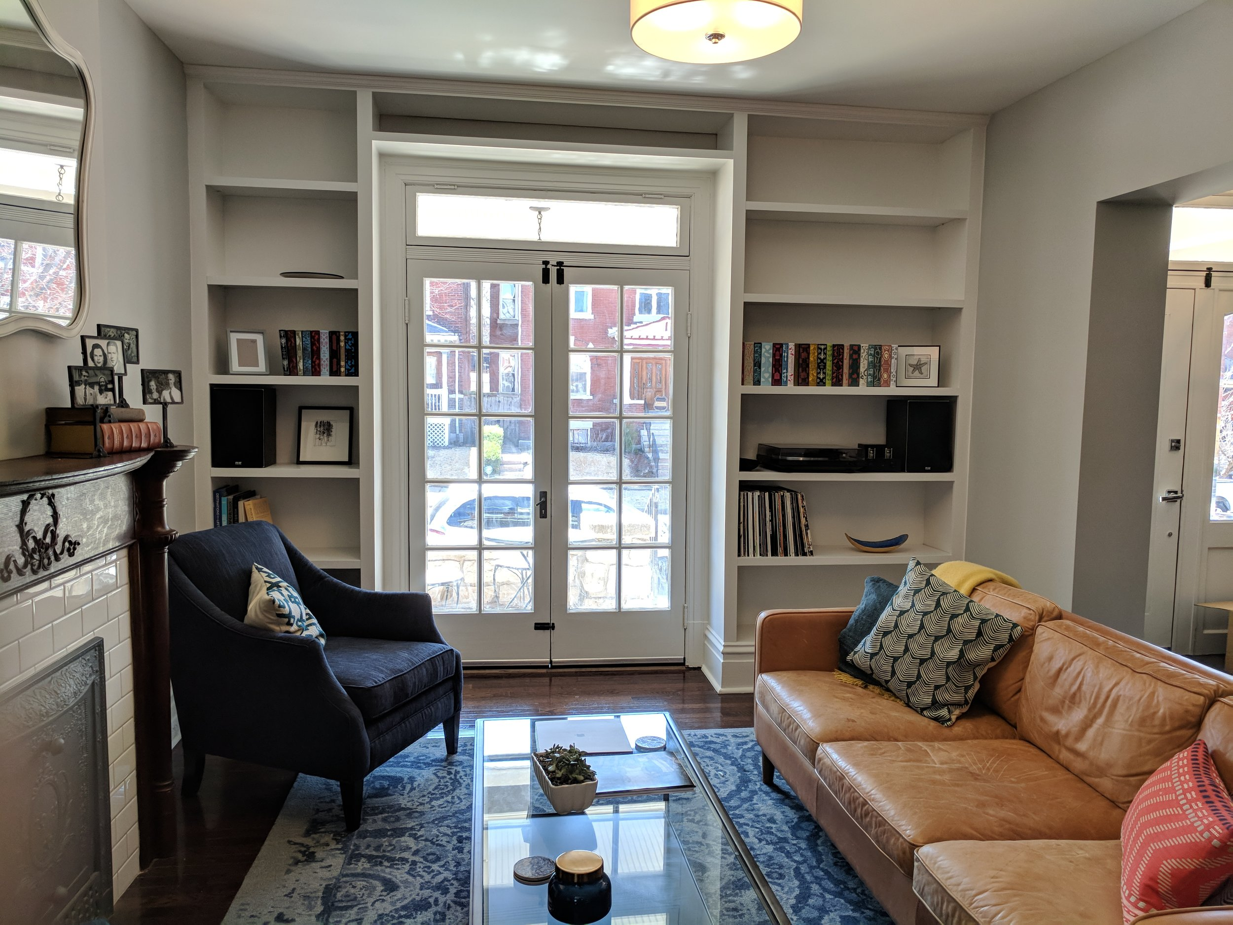 built in bookcase in this South City home
