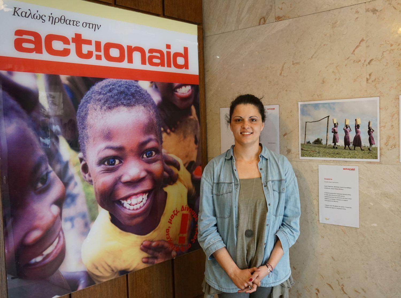 Η Σωτηρία Κυριακοπούλου, Refugee and Migration Program Manager στηνActionAid Hellas   © Marina Tomara