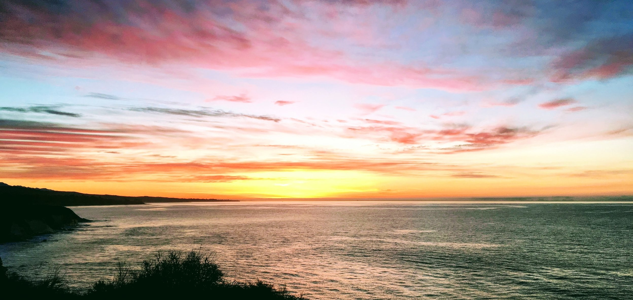 January sunrise over the Pacific Ocean in Santa Barbara, CA (2018)
