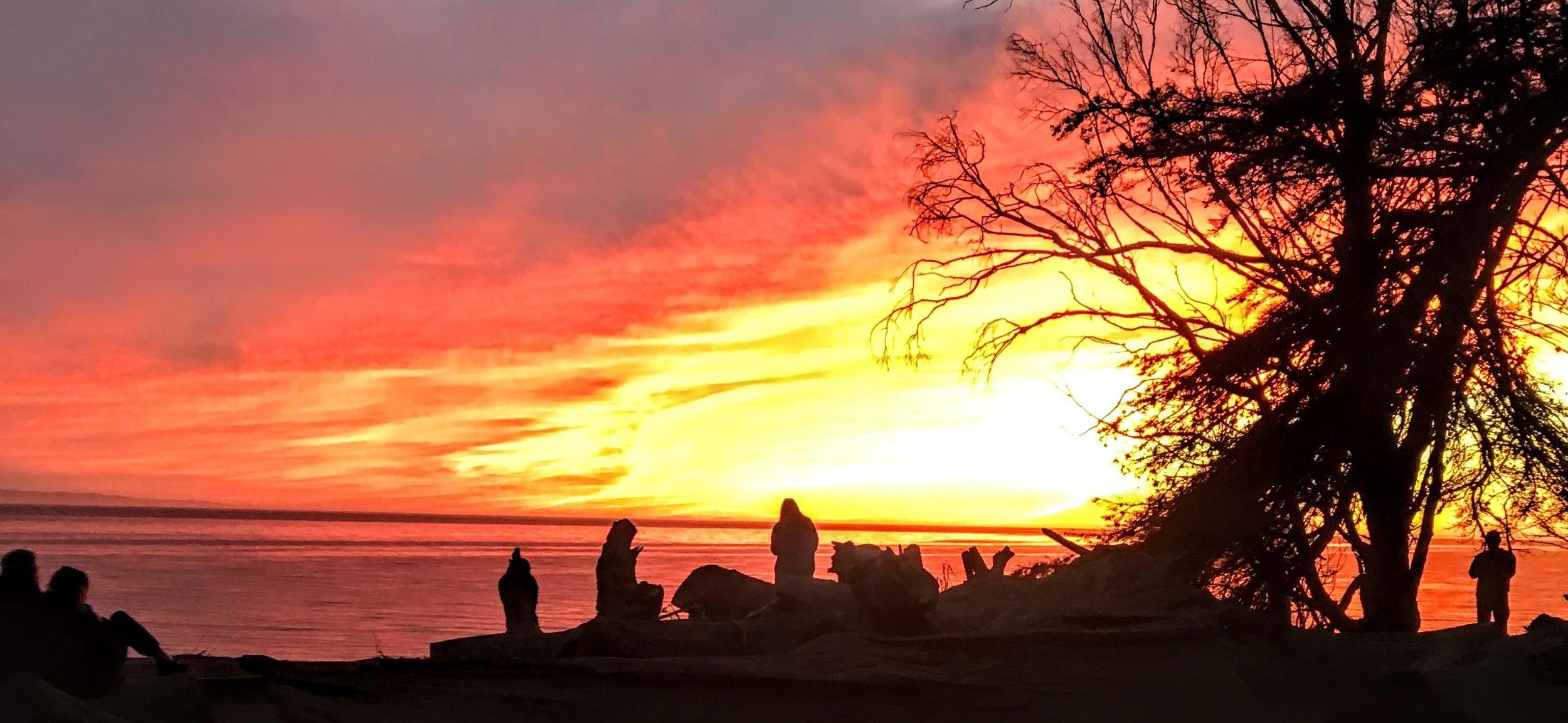 November sunset over the Pacific Ocean in Santa Barbara, CA (2017)