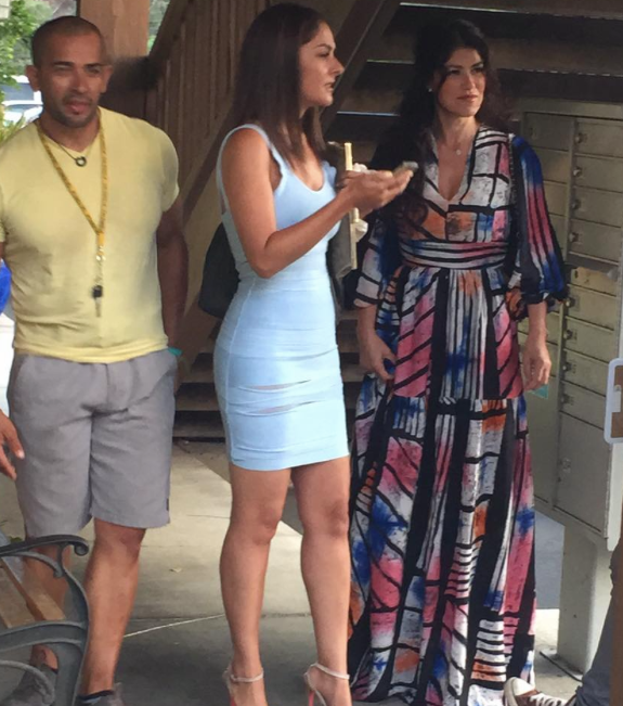 SPOTTED! The beautiful Mexican Reality TV star  Luzelba Mansour  wearing a magnificent dress by our Nigerian designer  Amede  while shooting for season 4 of the hugely anticipated show  Rica Famosa Latina  on  ESTRELLA TV . Styled by  #TeamBitton   Fashion Provided By  #IvanBittonStyleHouse