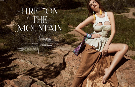 Hot new  Lucy's Magazine is out! and featuring our amazing Canadian Jewelry designer  MizDragonfly and Our Californian scarf designer  Calaphya . Styled by  AmbiKa Sanjana . Fashion Provided By  #IvanBittonStyleHouse