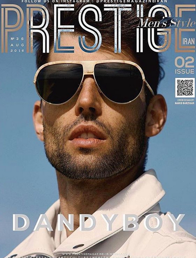 COVER ALERT! From the Iranian elite mens Fashion magazine @prestige magazine iran , the supermodel  Igor Corbé  featuring our designer from Austria  Andy Wolf Eyewear  and a leather Jacket from our Californian designer  #MissMcIntosh . Styled by  Aaron Gomez  and  Veronica Baca  from  #TeamBitton .  Fashion Provided By  #IvanBittonStyleHouse
