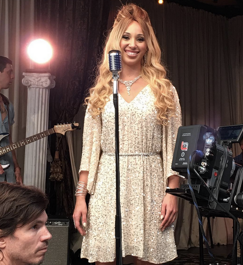 behind the scenes with Singer and Youtube Sensation  Whitney McClain  while shooting her new single's video and featuring Our Amazing Jewerly designer  Sambac Jewelry . Bangles, earrings and necklace. Styled By  Gianni Cj Valentino .  Fashion Provided By  #IvanBittonStyleHouse