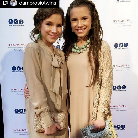 Cuteness alert! the  Bianca and Chiara D'Ambrosio  twins are out and about in Hollywood! The  Disney  stars are clutch matching with our Italian designer  Ottaviani . Styled By  AmbiKa Sanjana .  Fashion Provided By  #IvanBittonStyleHouse