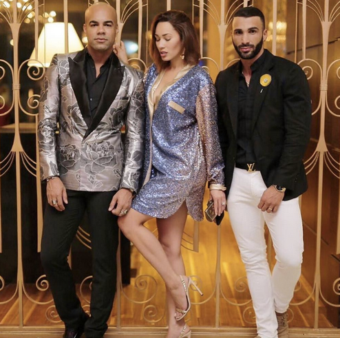 Spotted! Latin Socialite Blogger  Yisney Terrero  during fashion week  #dominicanamoda2016  next to super model  Ostwal Gonzalez  and celebrity stylist  Radhames Espiritu Reynoso  gotta love how sparky her jacket from our Dubai designer  Shefali Couture  ⭐️ fashion provided by  #IvanBittonStyleHouse  styled by  #TeamBitton  @kanistyles