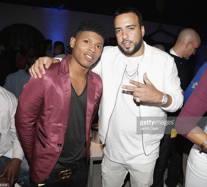 Spotted!  Empire  star  Yazz The Greatest  looking super Dapper in a Jacket by our American designer  Barabas Men  and chilling with Superstar  French Montana  in San Francisco. Styled By  Jason Griffin .  Fashion provided By  #IvanBittonStyleHouse