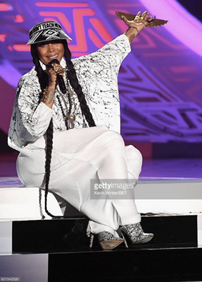 BREAKING NEWS! American singer and Fashion Icon  Erykah Badu  Hosting the legendary  Soul Train Music Awards  last night in Las Vegas in an amazing Jumpsuit by our Turkish Fashion Master  NU .  Styled By  DapperAfrika  assisted by  Winnie T. Stackz .  Fashion Provided By  #IvanBittonStyleHouse