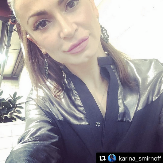 Selfie Time with the incredible  ABC Television Network 's supertsar  Karina Smirnoff  from  Dancing with the Stars  in a Jumpsuit from our German designer  Marcell von Berlin  while shooting an episode for  E! Entertainment   Famously Single . styled by @freshprinceola.  Fashion Provided By  #IvanBittonStyleHouse